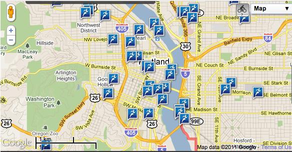 Map My Run View of Portland