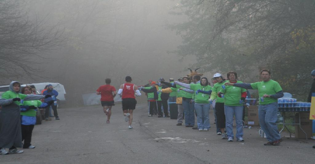 Marathon Nation | Ready at the Aid Station