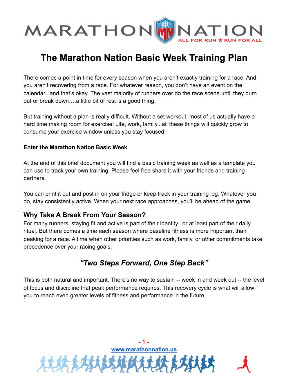 Basic Week Plan